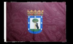 Drapeau Espagne Ville de Madrid avec ourlet