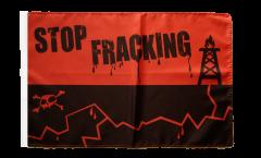 Drapeau Stop Fracking avec ourlet