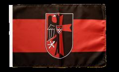 Drapeau Région des Sudètes avec Blason avec ourlet
