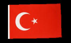 Drapeau Turquie avec ourlet