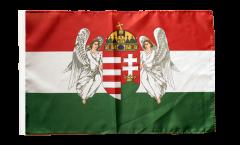 Drapeau Royaume de Hongrie 1867-1918 avec ourlet