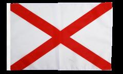 Drapeau USA US Alabama avec ourlet