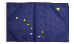 Drapeau USA US Alaska avec ourlet