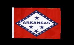 Drapeau USA US Arkansas avec ourlet