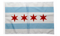 Drapeau USA Etats-Unis City of Chicago avec ourlet