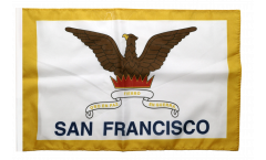 Drapeau USA Etats-Unis City of San Francisco avec ourlet