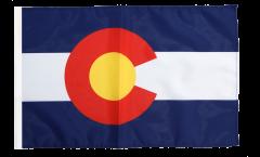 Drapeau USA US Colorado avec ourlet