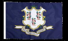 Drapeau USA US Connecticut avec ourlet