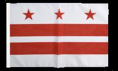 Drapeau USA US District of Columbia avec ourlet