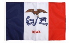 Drapeau USA US Iowa avec ourlet