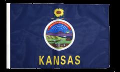 Drapeau USA US Kansas avec ourlet