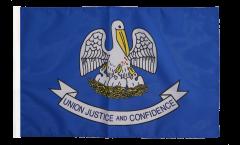 Drapeau USA US Louisiane avec ourlet