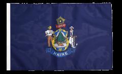 Drapeau USA US Maine avec ourlet
