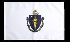 Drapeau USA US Massachusetts avec ourlet