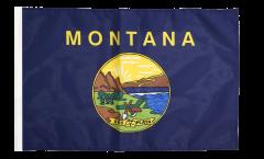 Drapeau USA US Montana avec ourlet
