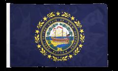 Drapeau USA US New Hampshire avec ourlet
