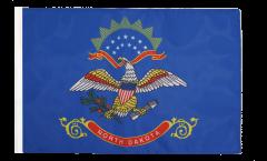 Drapeau USA US North Dakota avec ourlet