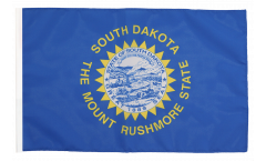 Drapeau USA US South Dakota avec ourlet