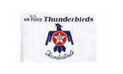 Drapeau USA Etats-Unis Thunderbirds US Air Force avec ourlet