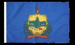 Drapeau USA US Vermont avec ourlet
