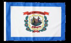 Drapeau USA US West Virginia avec ourlet