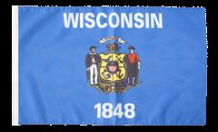 Drapeau USA US Wisconsin avec ourlet