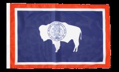 Drapeau USA US Wyoming avec ourlet
