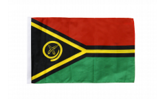 Drapeau Vanuatu avec ourlet