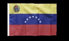 Drapeau Venezuela 7 Etoiles avec blason 1930-2006 avec ourlet