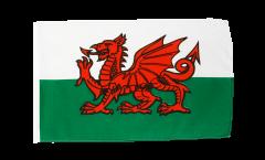 Drapeau Pays de Galles avec ourlet