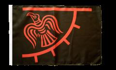 Drapeau Viking Odinicraven avec ourlet
