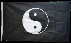 Drapeau Ying et Yang noir