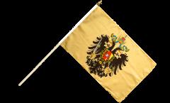Drapeau Autriche-Hongrie 1815-1915 sur hampe