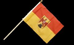 Drapeau Autriche Burgenland sur hampe