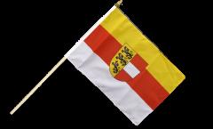 Drapeau Autriche Carinthie Kärnten sur hampe