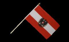 Drapeau Autriche avec aigle sur hampe