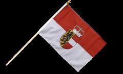 Drapeau Autriche Salzbourg sur hampe