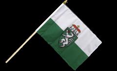 Drapeau Autriche Styrie Steiermark sur hampe