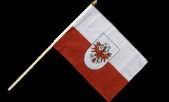 Drapeau Autriche Tyrol sur hampe