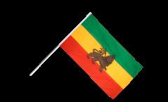 Drapeau Ancien Ethiopie sur hampe