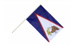 Drapeau Samoa américaines sur hampe