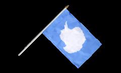 Drapeau Antarctique sur hampe