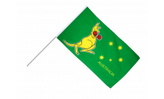 Drapeau Australie Kangourou sur hampe