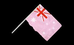 Drapeau Australie Rose sur hampe