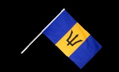 Drapeau Barbade sur hampe