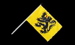 Drapeau Belgique Flandre sur hampe
