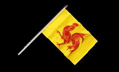 Drapeau Belgique Wallonie sur hampe
