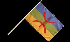 Drapeau Berbère Amazigh sur hampe