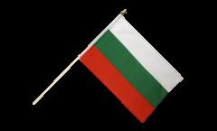 Drapeau Bulgarie sur hampe