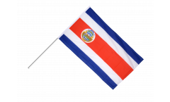 Drapeau Costa Rica sur hampe